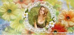 кружка цветы -236